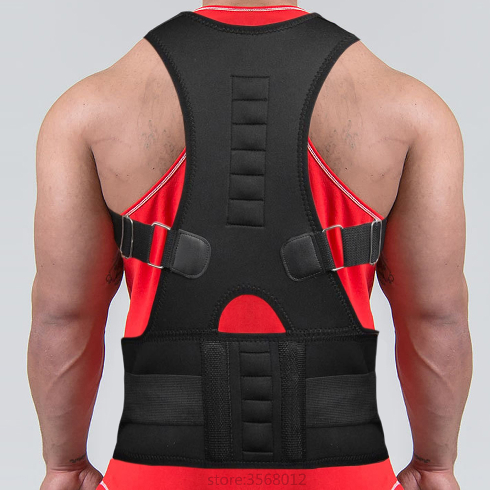 Adjustable Shoulder Lower Pain Relief Magnetic Therapy Back Waist Support Brace Belt Double Pull Strap Gym Sports AccessoriesAdjustable Shoulder Lower Pain Relief Magnetic Therapy Back Waist Support Brace Belt Double Pull Strap Gym Sports Accessories