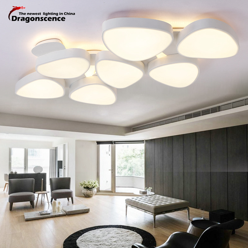 Dragonscence Modern Large 1.3 meters LED ceiling lights for living dining room bed room with remote luxury ceiling lamp fixturs