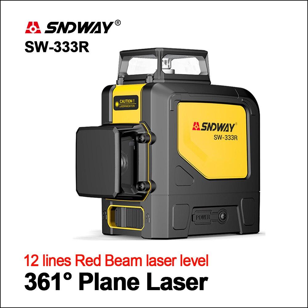 SNDWAY Laser Ebenen Green Laser Level 360 Grad 3D Selbst Nivellierung Vertikale Horizontale Dreh Laser 12 linien SW-333G Laser Ebene