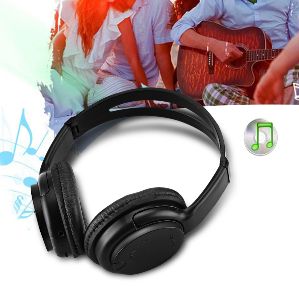 Bluetooth Headphone Stereo Wireless Headset Earphone Support 32GB TF Card Slot Black ks 509 mp3 player stereo headset headphones w tf card slot fm black
