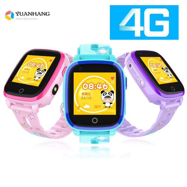 00547019538f IP67 Waterproof Smart 4G Remote Camera GPS WI-FI Kids Children Students  Wristwatch SOS Video Call Monitor Tracker Location Watch