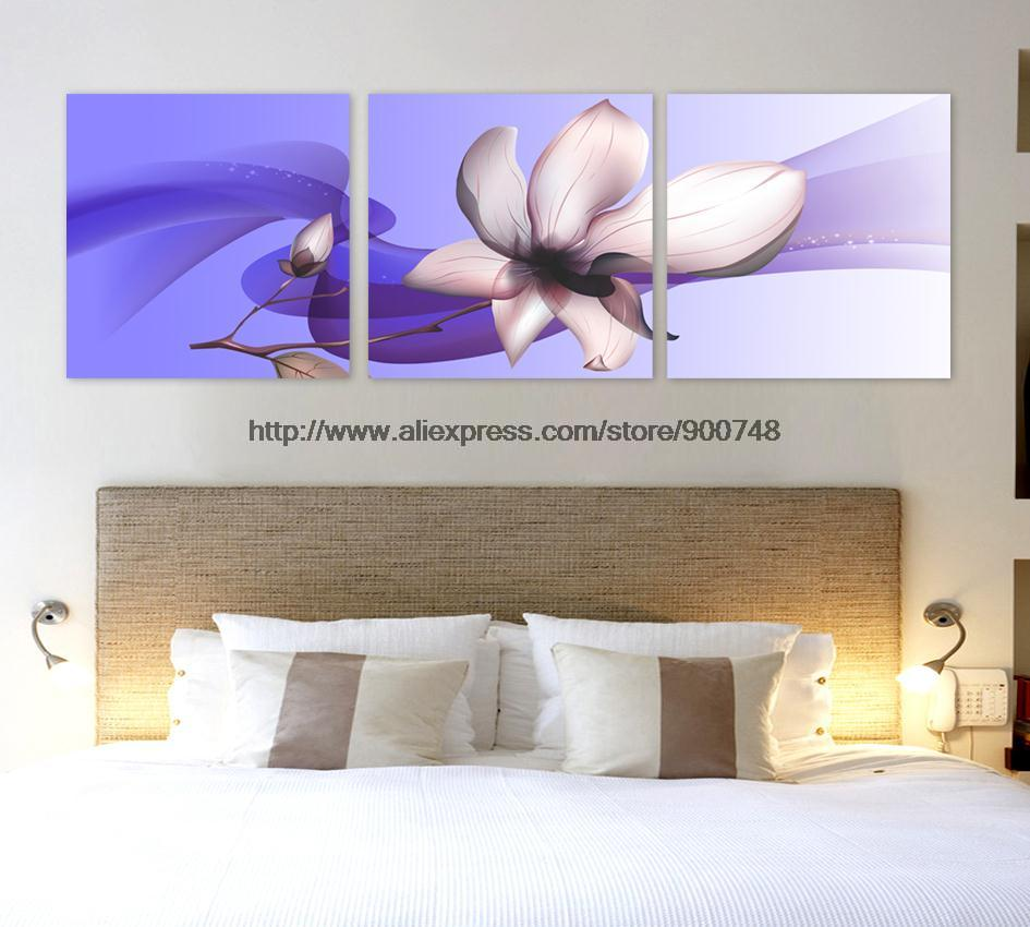 Another one hot sell home decor art 3 piece blue back oil for How to sell home decor online