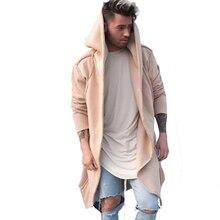 Hombres otoño invierno con capucha de manga larga Cardigan Hoodies Coat  Loose Fit chaqueta Hip Hop Streetwear hombres hipster ca. 1c76b8788a9