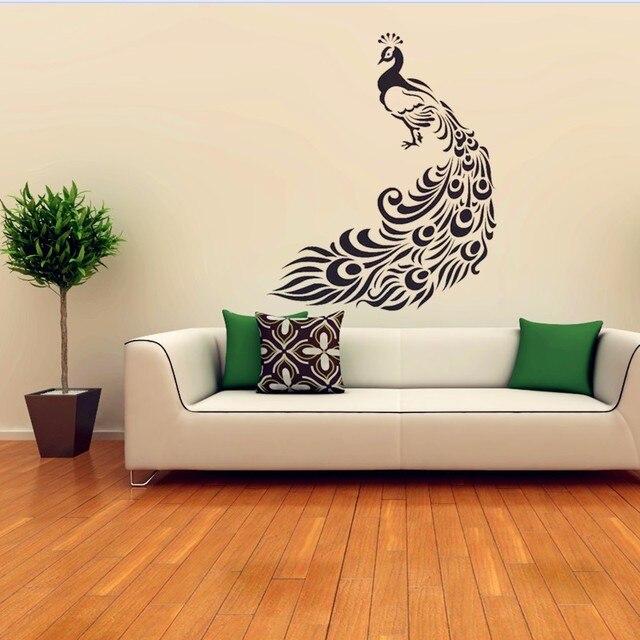 schner pfau wandaufkleber steuern dekor dekorative anzupassen verschiedenen szenen wandaufkleber fr kinderzimmer wohnzimmer wandkunst - Beste Wohnzimmer Wandkunst