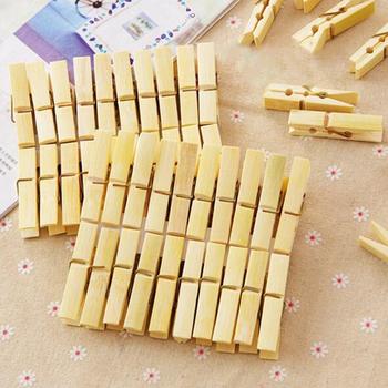 20 sztuk partia Bamboo Wood klamerki skarpety prześcieradło ręcznik wiatroszczelne szpilki klipy akcesoria do prania domu klamerki #8230 tanie i dobre opinie CN (pochodzenie) HJ84490 20pcs Approx 6cm long 1 2cm wide