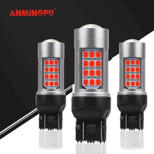 ANMINGPU 2x 5W Signal Lamp WY21W T20 LED W21W W21/5W 7440 7443 Led Turn Signal Light Stop Parking Backup Reverse Bulb Car Lights nlpearl 2x signal lamp t20 w21w led w21 5w led wy21w 7440 7443 led bulb 3030 smd turn signal light brake reverse light red white