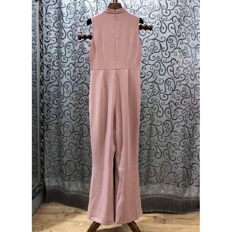Haute Lady Printemps De Salopette Droite Qualité Pantalon 2019 Black D'été pink Broderie Appliques Femmes Dentelle Patchwork Vêtement r6qrtOgwx
