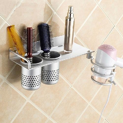 Hair Dryer Stand Storage Organizer Rack Holder Hanger Wall ...