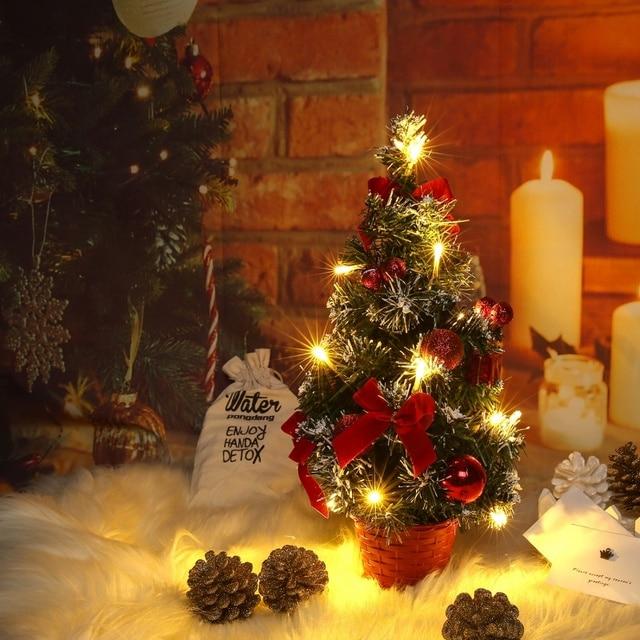 table led christmas tree xmas nightlight decoration light pine tree mini christmas tree christmas decoration new