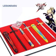 Manga Fate Stay Night Cosplay Accessories set Saber Weapons Sword Keyrings Action Figures Toys Collection Keychains Pendants(China)