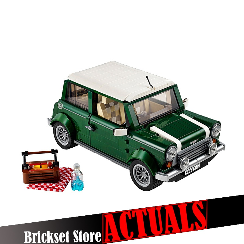 In Stock YILE Classic MINI Cooper Model Building Kits Blocks Bricks Enlighten Toys For Children Compatible With 10242 Creator classic lele 30004 grand emporium creator architecture building blocks bricks toys diy for children model compatible with 10211