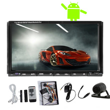 Android 5.1 2Din Auto Car DVD Stereo Autoradio Radio APP Capacitive GPS SD 1080P 7″ CD Receiver Mirror Link USB WiFi