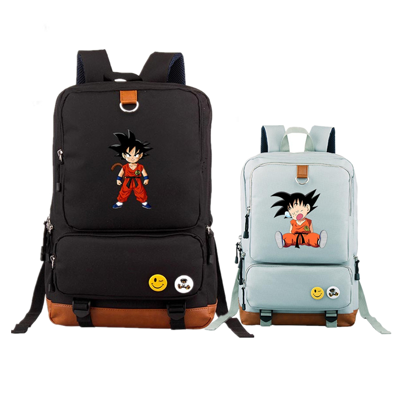 цена на 2017 New High Quality Printing Cartoon Dragon Ball Z Backpacks Anime Son Goku Kakarotto Cosplay School Bags For Teenagers