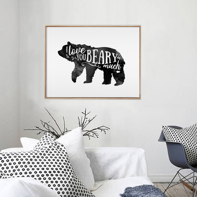 Woodland Nursery Bear Forest Animal Rustic Baby Boy Room Wall Decal Tribal