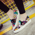 2017 NEW A pedal canvas shoes female low help students lazy leisure shoes large base platform shoes SIZE 35-40