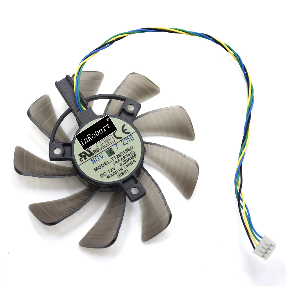 85mm T129215SU 0.50A Cooling Fan For ASUS MSI Gigabyte GTX 1060 G1 GTX 1050Ti GTX 1070 WINDFORCE Graphics Card Cooler Fans msi n460gtx n560gtx v5 graphics video card cooling fan pld08010s12hh dc 12v 0 35a 4pin dual cooler fans