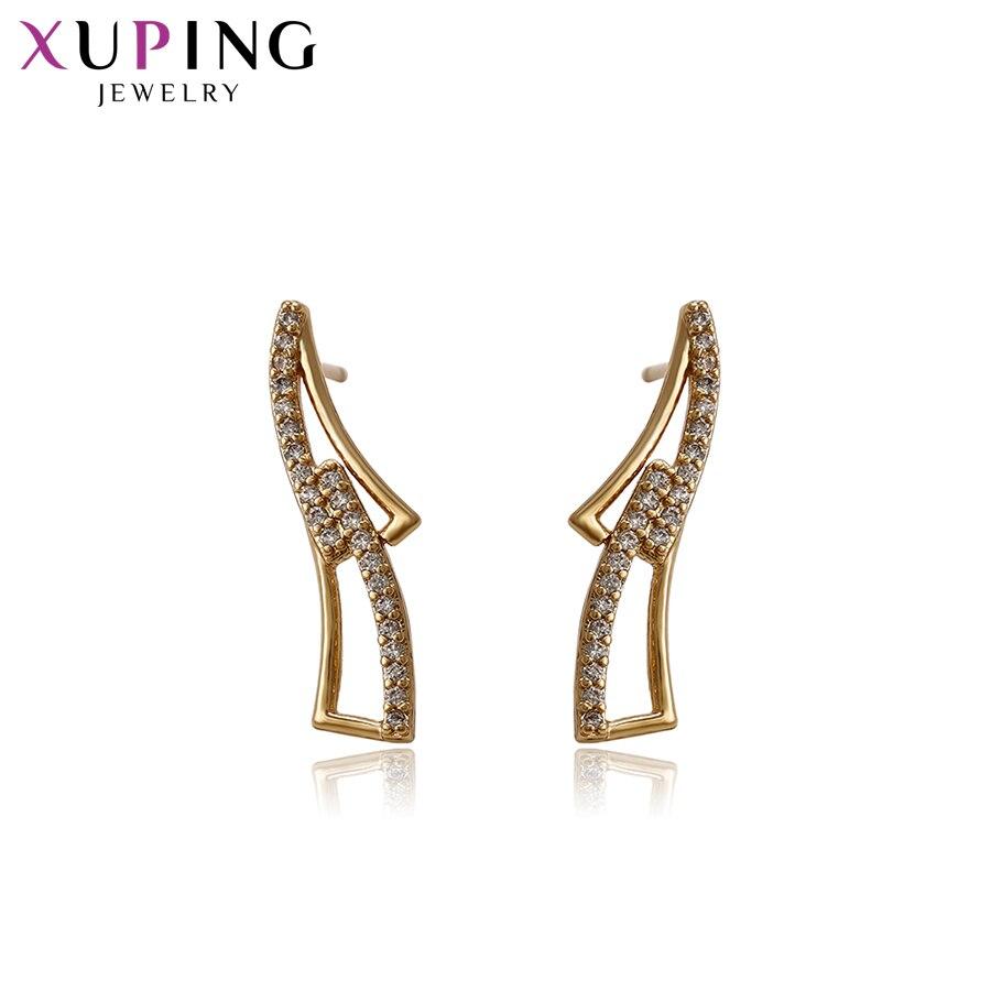 11,11 сделок Xuping элегантные серьги с синтетическими CZ Модные украшения для Для женщин Рождество подарок S58-93329