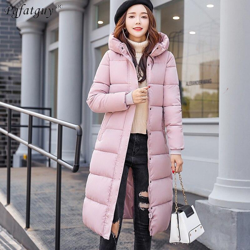 adf49208fe8a rose marine Mode De Vestes Plus Bas D hiver army Parkas Femmes Manteau  Green Noir Survêtement Le Rose Vers 2018 M Chaud Taille Nouvelle ...