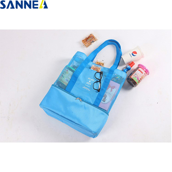 цена на SANNE Beach leisure Handbag Cooler Insulated Lunch Box lunch bag insulated Thermo Thermal Lunch Box for Kids Food bag Picnic Bag