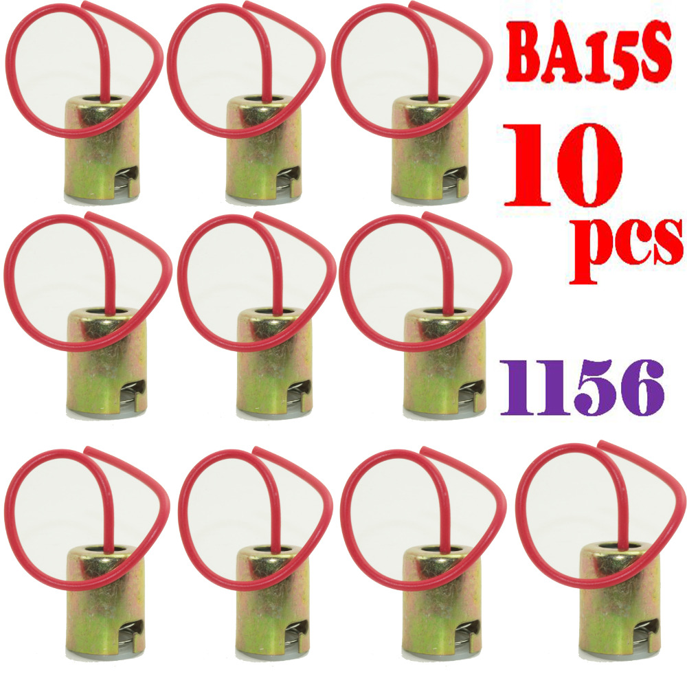 Tool Parts 10pcs/lot Ba15s 1156 S25 P21w Connector Car Bulb Wire Lamp Socket Truck Light Holder Firm In Structure