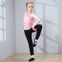 Cotton and Spandex Ballet Suit Dance Suit for Girls Kids Children Long Sleeves Dance Gymnastics Leotard High Quality dance clothes for children and women camisole clothes cotton spandex ballet body girls backless dance leotard jq 291