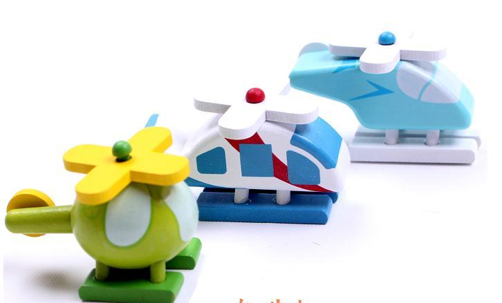 12 model model punuar me dorë prej druri Plane Druri lodra të vogla - Makina lodër për fëmije - Foto 5