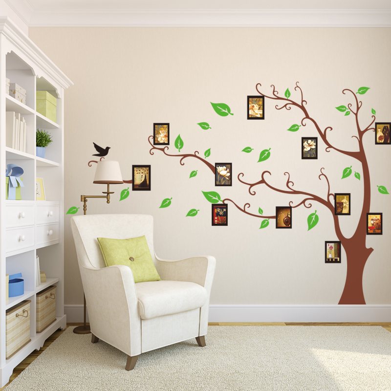 Home Decor Art Tree Wall Sticker Removable Mural Decal: Removable Wall Art Photo Frame Memory Tree Wall Stickers