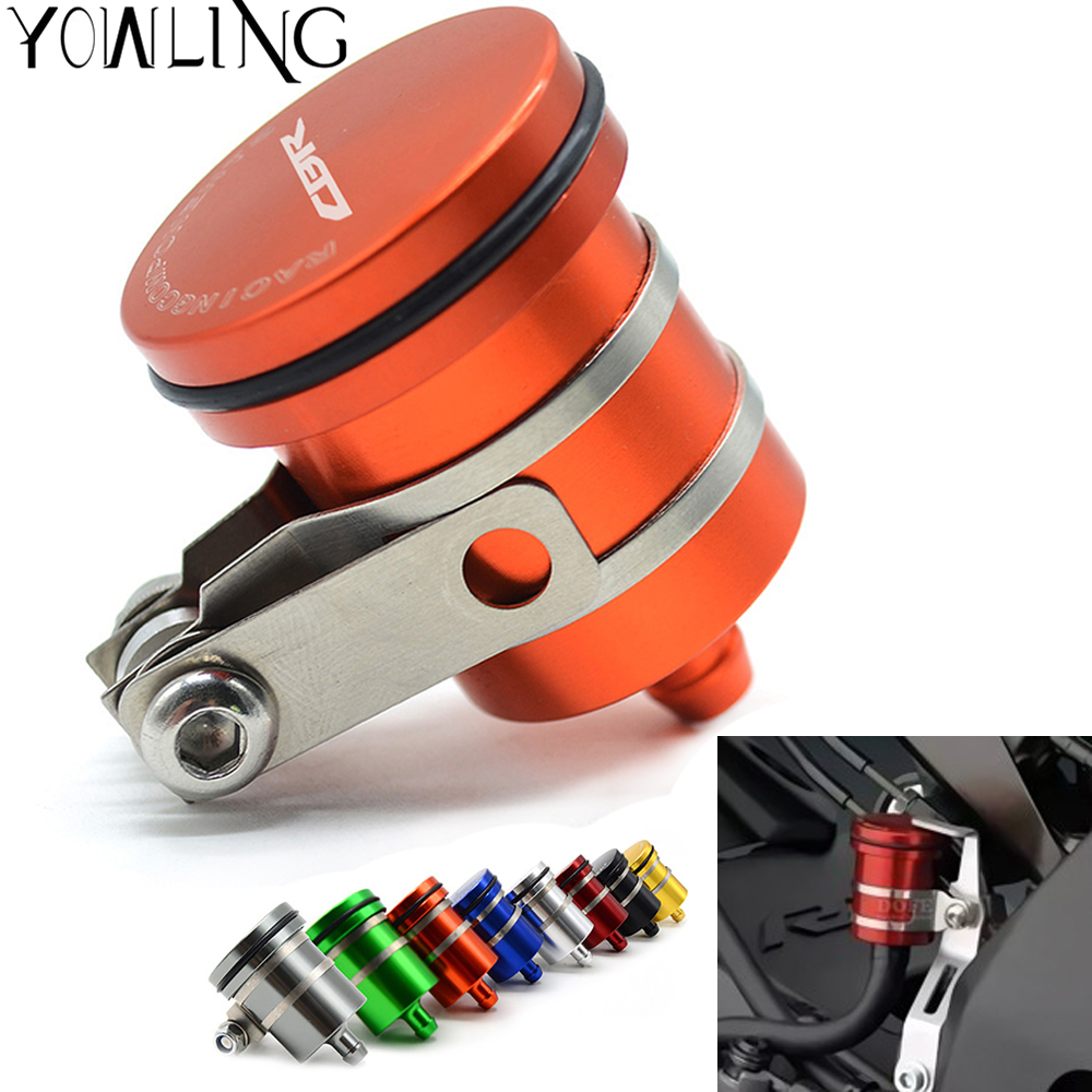 Universal CNC Rear Brake Clutch Tank Motorcycle Fluid Reservoir Oil Cup Cover For <font><b>Honda</b></font> CBR600RR <font><b>CBR</b></font> <font><b>600</b></font> RR 2003 <font><b>2004</b></font> 2005 2006 image