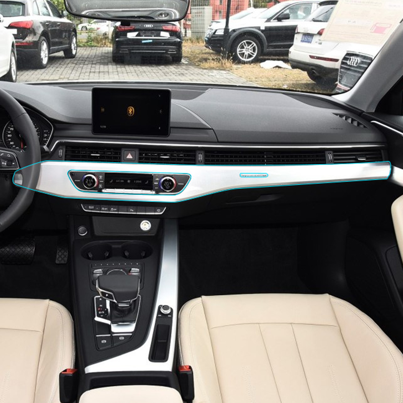 Car Styling Car Interior Central Control Panel Kit TPU Transparent Protective Film Invisible Self Healing Sticker For Audi A4