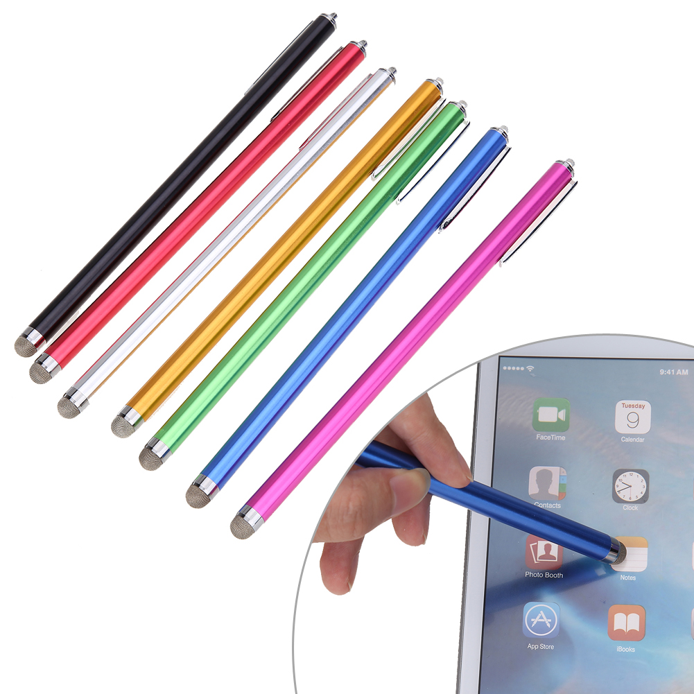 Microfiber Metal Capacitive Stylus Pen for Smartphone Smart Mobile Phone Tablet PC Laptop/ Capacitive Touch Screen Devices capacitive pen touch screen drawing pen stylus with conductive touch sucker microfiber touch head for tablet pc smart phone