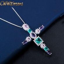 Женское Ожерелье с кулоном cwwzircons элегантное ожерелье крупным