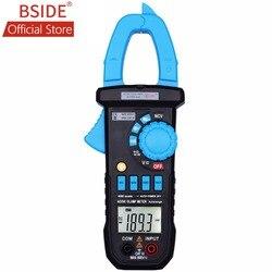 BSIDE cyfrowy multimetr 400A AC/DC miernik cęgów amperowych ACM03 PLUS pojemnościowy miernik częstotliwości indukcyjny Alarm napięcia