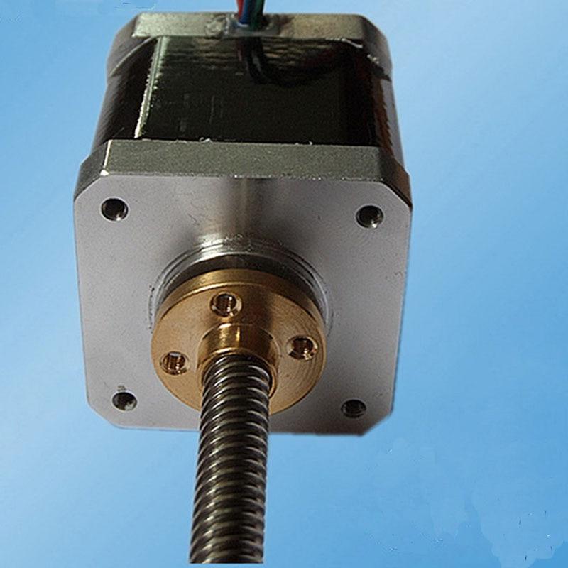 цена на 42MM48 TR8*8 20W 1.2 A 2 phase 1.8 degree holding torque 450mN.m 42SHD4412-78NK Hynrid stepping motor for 3D printer