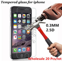 20pcs/lot New Ultra Thin 0.3mm Anti-shatter Tempered Glass For iPhone 6 6s 7 6 plus 6s 7 plus 5 5s 5C 4 4s Screen Protector Film