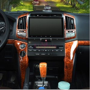 Image 4 - 3 Color Interior Silver Wooden Color Trim Panel Cover Car Styling Chrome 2008 2015 For Toyota LC Land Cruiser 200 Accessories