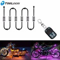RGB 36 LED Wireless Remote Control Car Motorcycle Light Atmosphere Lamp with Smart Brake Light Accent Neon Style Light Kit