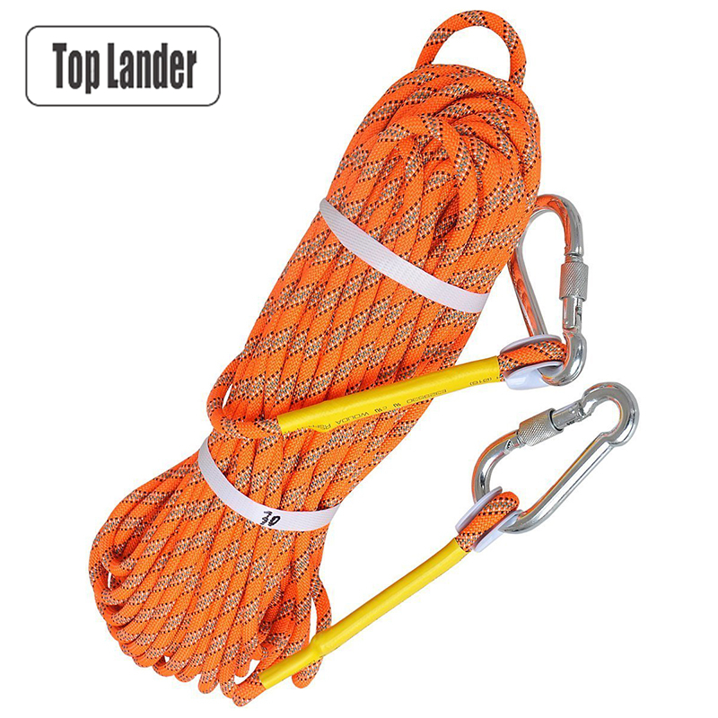 Outdoor Camping Rock Climbing Rope 8mm Fire Escape Safety Static Rope Bouldering Wall Tree Climbing Rope 50m 10m Climbing Gear