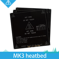 HOT RepRap Mendel Heat Bed Heatbed MK3 Standard Aluminum Plate 3mm 3D Printer Hot Bed Free