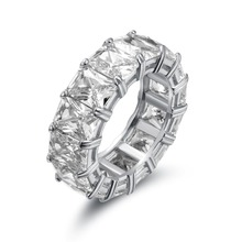 Big CZ Cubic Zircon Stone White Gold Color Rings for Women Fashion Jewelry Day Gift Ring 925 Sterling Silver Mens ring
