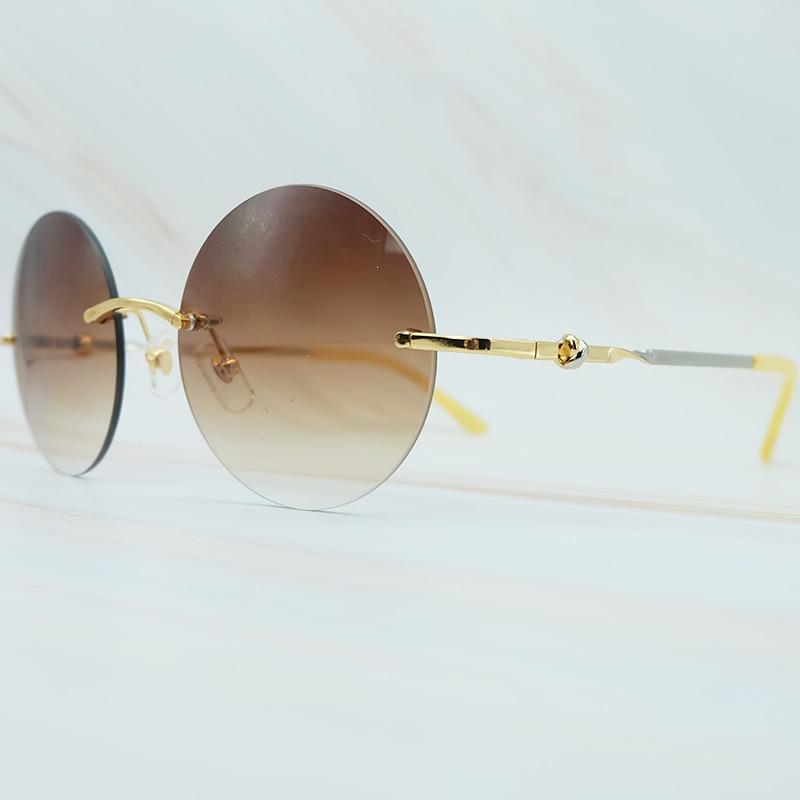 Sale Reliable And Good Round Metal Sunglasses Men Luxury Brand Designer Wholesale Retro Classic Rimless Carter Sunglass