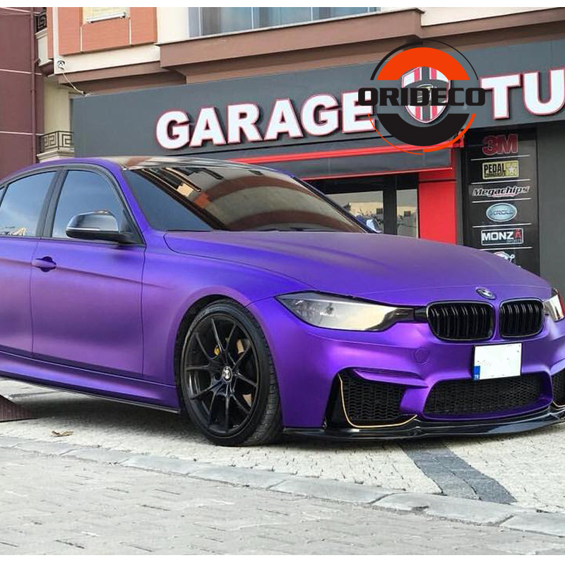 100/150/200/300/500cm Premium Purple Matte Metallic Car Vinyl With Air Channels Satin Purple Metallic Car Film Decoration|Car Stickers| |  - title=