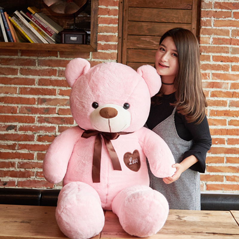 High Quality Big 80cm Plush Stuffed Teddy Bear Teddies Toy Love Embrace Bears Chrildren Kids Doll Lovers Girl's Birthday gift