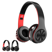 Wireless Headphone Bluetooth Headset Earphone Hands-free Call and Hi-Fi Stereo Sound Music Play Black and Red Colors. цены