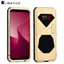 Original Imatch Daily Waterproof Case For Samsung Galaxy S8/ S8 Plus Luxury Metal Silicone Cover 360 Full Protection Phone Cases