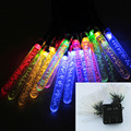 20 LEDs Ice Piton Shape LED Lighting Strings Outdoor Waterproof Solar Power Fairy Lights Party Decoration Light