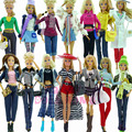 Randomly Pick 3 Sets Outfit Blouse Bottoms Accessories Clothes For  Barbie Doll Fashion Costume Kid Toy Gift