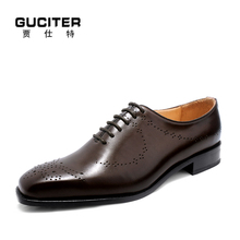 Goodyear leather welt men's shoes and handmade shoes men British high-grade leather customized business blake craft import Plain