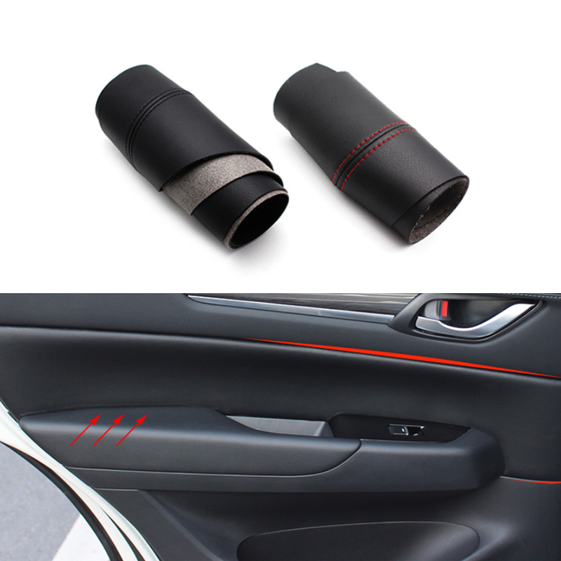 For Mazda CX-5 2016 2017 2018 Car Door Handle Panel Microfiber Leather Cover