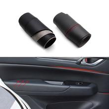 Para mazda CX 5 2016 2017 2018 maçaneta da porta do carro painel capa de couro microfibra