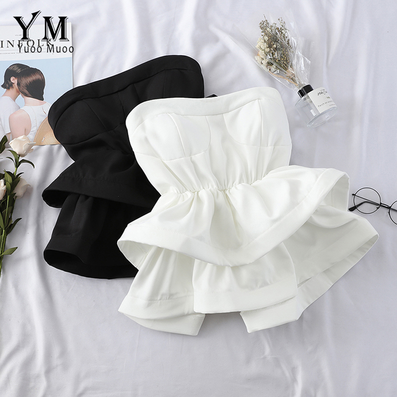 YuooMuoo Hot Off Shoulder Ruffle Top Women 2019 High Quality Comfy Summer   Shirt   Elegant High Waist Wrap   Blouse   Ladies Tops